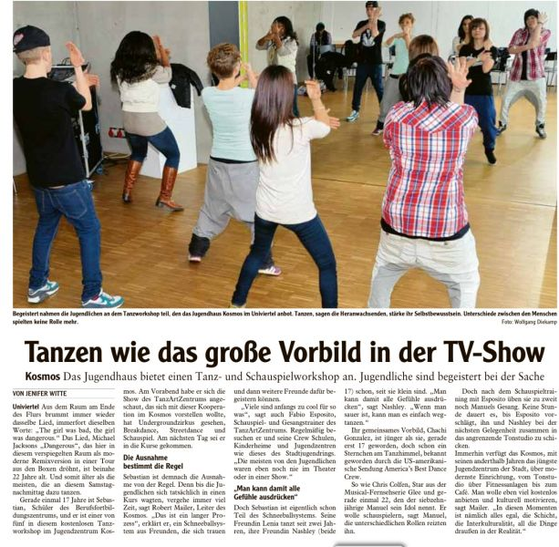 kosmos tanzworkshop